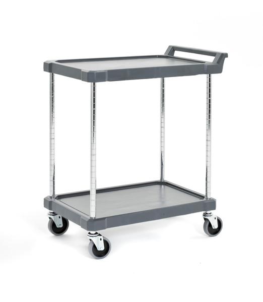 """Olympic J16UC2 2-Shelf Polymer Utility Cart, 18"""" x 28"""""""