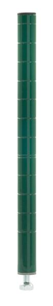 "Olympic J13K Stationary Wire Shelving Post, Green Epoxy, 13"""