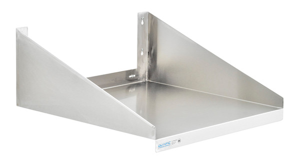 """Olympic JMS2424SS Stainless Steel Microwave Wall Shelf, 24"""" x 24"""""""
