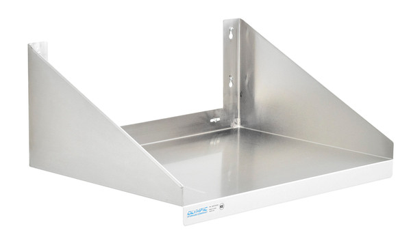 "Olympic JMS1824SS Stainless Steel Microwave Wall Shelf, 18"" x 24"""
