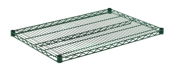 """Olympic J2436K Wire Shelf, Green Epoxy, 24"""" x 36"""""""