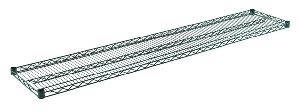"""Olympic J1472K Wire Shelf, Green Epoxy, 14"""" x 72"""""""