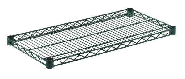 """Olympic J1430K Wire Shelf, Green Epoxy, 14"""" x 30"""""""