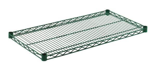 """Olympic J1836K Wire Shelf, Green Epoxy, 18"""" x 36"""""""