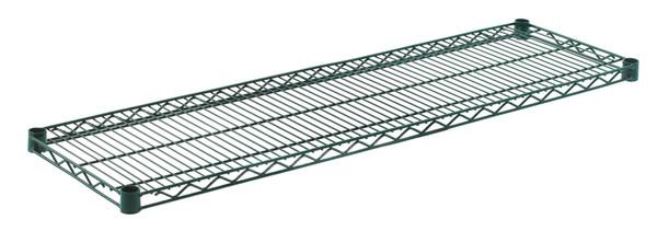 """Olympic J1448K Wire Shelf, Green Epoxy, 14"""" x 48"""""""