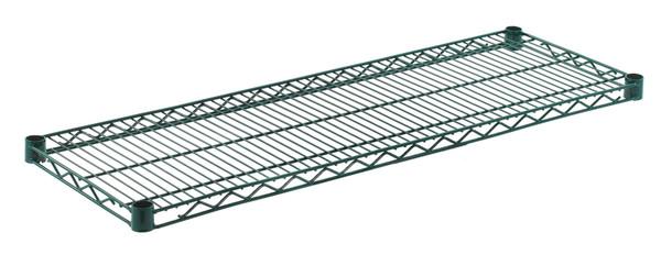 """Olympic J1442K Wire Shelf, Green Epoxy, 14"""" x 42"""""""