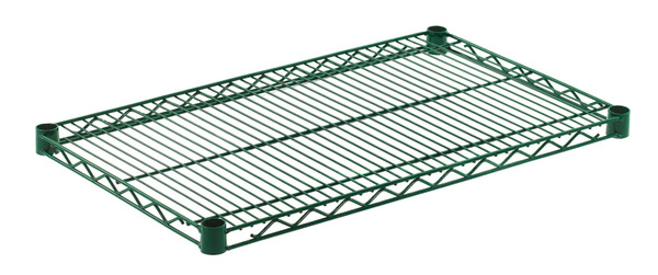 """Olympic J1830K Wire Shelf, Green Epoxy, 18"""" x 30"""""""