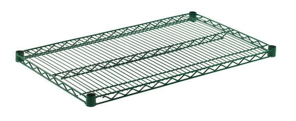 """Olympic J2136K Wire Shelf, Green Epoxy, 21"""" x 36"""""""