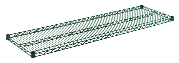 """Olympic J1860K Wire Shelf, Green Epoxy, 18"""" x 60"""""""