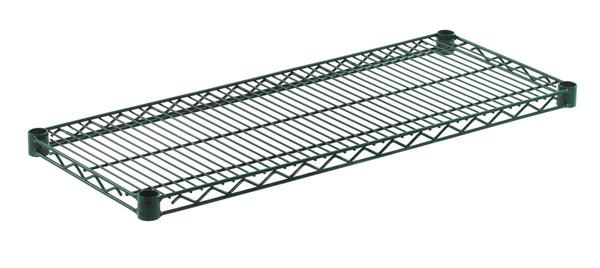 """Olympic J1436K Wire Shelf, Green Epoxy, 14"""" x 36"""""""