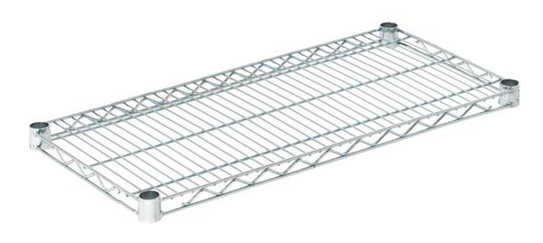 """Olympic J1430C Wire Shelf, Chromate, 14"""" x 30"""""""