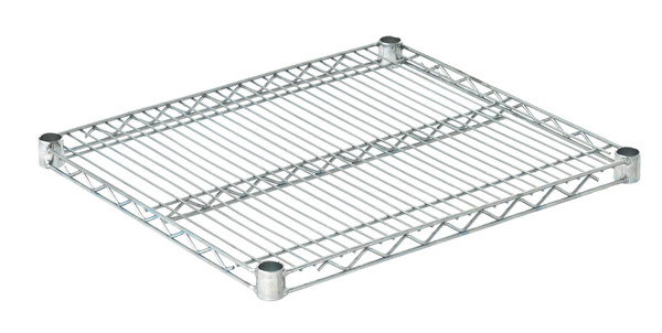 "Olympic J2124C Wire Shelf, Chromate, 21"" x 24"""