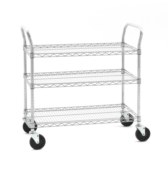 "Olympic J1836WC-3-SR 3-Shelf Wire Utility Cart, 18"" x 36"""