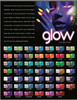COMPLETE GLAM & GLITS GLOW IN THE DARK ACRYLIC POWDER 48 COLORS COLLECTION SET