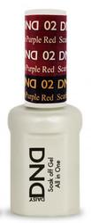 #02 - DND Mood Gel - Scarlet To Purple Red 0.5 oz