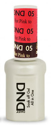 #05 - DND Mood Gel - Hot Pink To Mulberry 0.5 oz