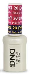#20 - DND Mood Gel - Pink To Violet 0.5 oz