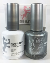 Lechat Nobility Gel and Polish Duo - Silver (0.5 fl oz)