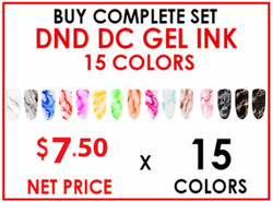 DND DC GEL INK - COMPLETE SET - 15 COLORS (#01-#15)