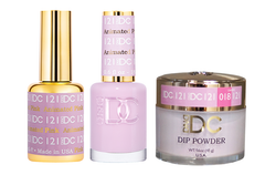 DND DC 3IN1 MATCHING(GEL+LACQUER+DIP) - #DC121- Animated Pink