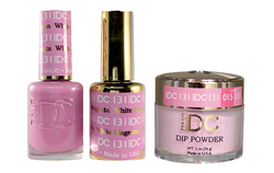 DND DC 3IN1 MATCHING(GEL+LACQUER+DIP) - #DC131- White Magenta