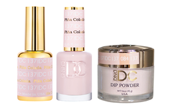 DND DC 3IN1 MATCHING(GEL+LACQUER+DIP) - #DC137- Pina Colada
