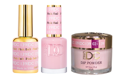 DND DC 3IN1 MATCHING(GEL+LACQUER+DIP) - #DC139- Pink Soft