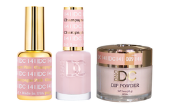 DND DC 3IN1 MATCHING(GEL+LACQUER+DIP) - #DC141- Pink Champagne