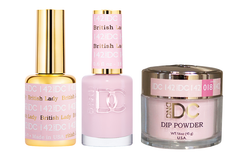 DND DC 3IN1 MATCHING(GEL+LACQUER+DIP) - #DC142- British Lady