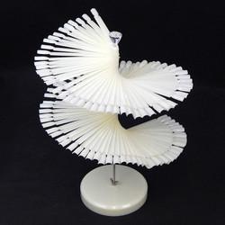 Nail Art Display Tip - Spiral Fan Shape Natural 120 Tips