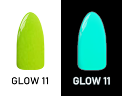 CHISEL 2IN1 ACRYLIC & DIPPING 2OZ - NEON GLOW IN THE DARK COLLECTION -GLOW11