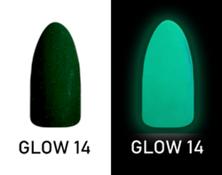 CHISEL 2IN1 ACRYLIC & DIPPING 2OZ - NEON GLOW IN THE DARK COLLECTION -GLOW14
