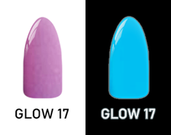 CHISEL 2IN1 ACRYLIC & DIPPING 2OZ - NEON GLOW IN THE DARK COLLECTION -GLOW17