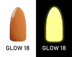CHISEL 2IN1 ACRYLIC & DIPPING 2OZ - NEON GLOW IN THE DARK COLLECTION -GLOW18