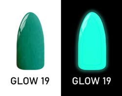 CHISEL 2IN1 ACRYLIC & DIPPING 2OZ - NEON GLOW IN THE DARK COLLECTION -GLOW19