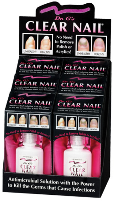 Dr's G Clear Nail 0.6 Oz. Display of 6