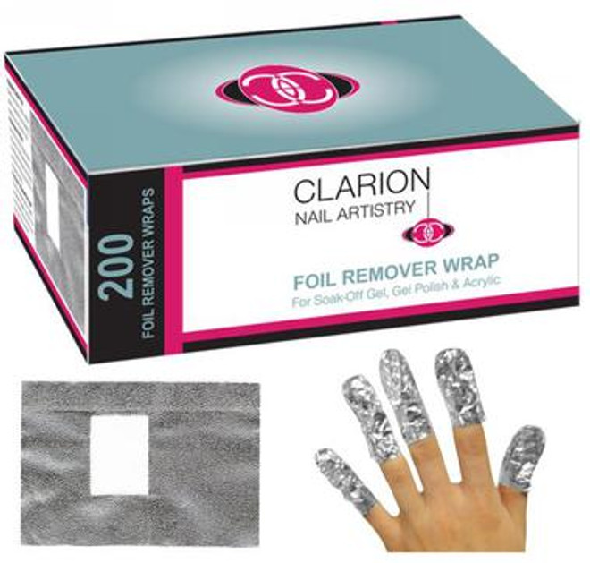 Clarion - Nail Remover Foil Wrap 200ct/Box