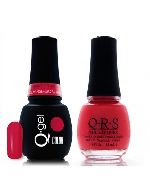#281 - QRS Gel Duo - Neon Orange
