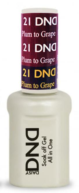 #21 - DND Mood Gel - Plum To Grape 0.5 oz