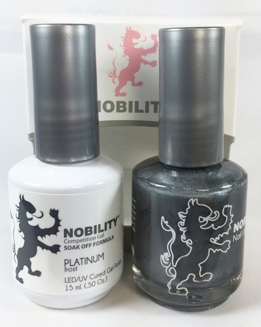 Lechat Nobility Gel and Polish Duo - Platinum (0.5 fl oz)