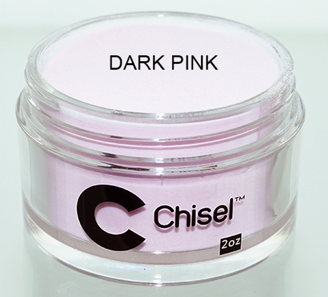 CHISEL 2IN1 ACRYLIC & DIPPING 2OZ - PINK & WHITE -DARK PINK