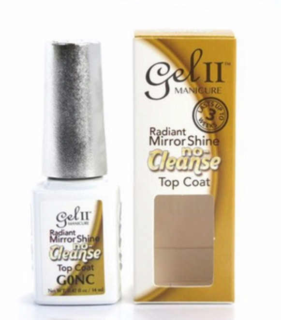 La Palm GEL II Gel Polish NON CLEANSE Top Coat Radiant Mirror Shine .5oz
