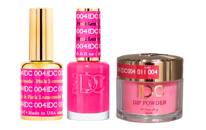DND DC 3IN1 MATCHING(GEL+LACQUER+DIP) - #DC004- Pink Lemonade
