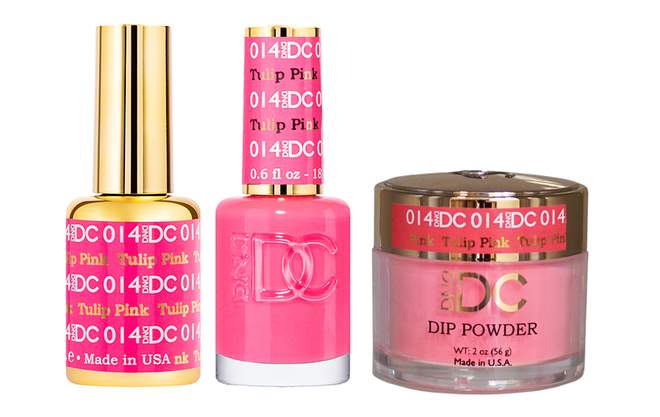 DND DC 3IN1 MATCHING(GEL+LACQUER+DIP) - #DC014- Tulip Pink
