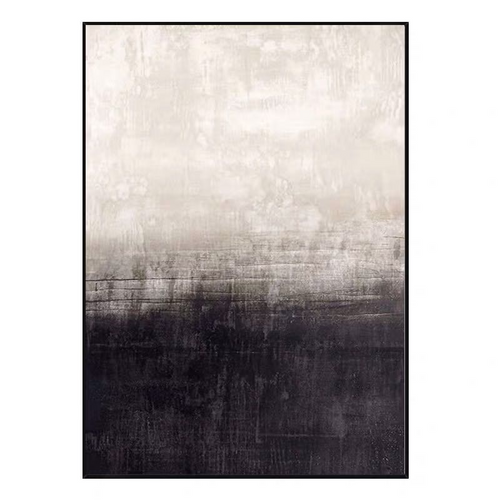 Handmade Abstract Oil Painting Wall Art Modern Black and White Minimalist On Canvas Home Decoration For Living Room No Frame