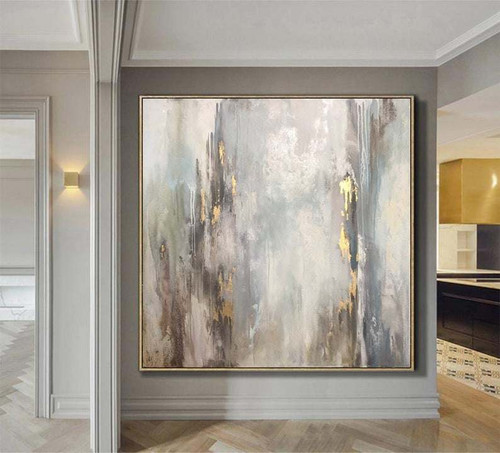 Abstract Paintings On Canvas Beige Painting Gold Abstract Oil Painting Calming Painting Extra Large Wall Art Canvas Hand Art