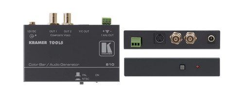 Kramer Electronics 810 Composite Video & s-Video Color Bar / Audio Tone Generator