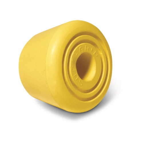 Front Facing Yellow Sure Grip Bullseye Toe Stops from Roller Skate Nation