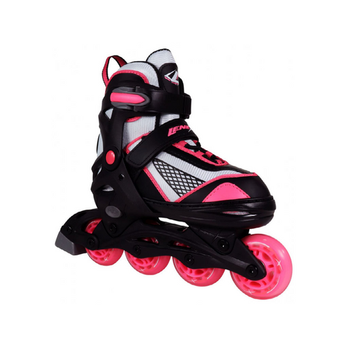 Front Facing Pink and Black Lenexa Venus Adjustable Roller Blades from Roller Skate Nation