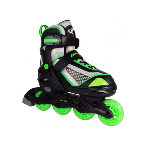 Front Facing Green Lenexa Viper Adjustable Roller Blades from Roller Skate Nation